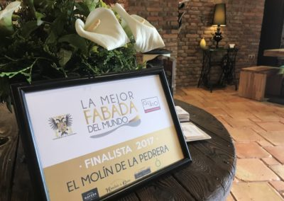 Fabada asturiana  Restaurante El Molín de la Pedrera
