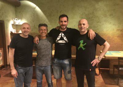 Con Saúl y Manolo Cravioto Restaurante El Molín de la Pedrera