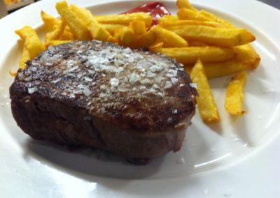 Solomillo de ternera asturiana Restaurante El Molín de la Pedrera
